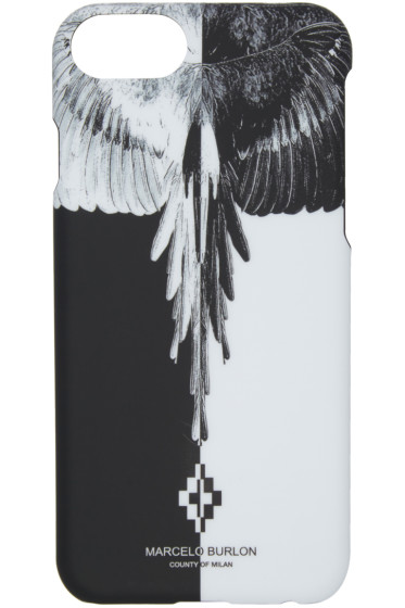 Marcelo Burlon County of Milan - Black & White Aike iPhone 7 Case