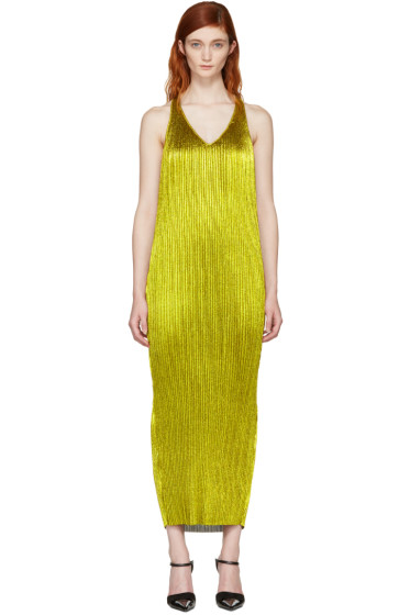 Haider Ackermann - Gold Plissé Tank Dress