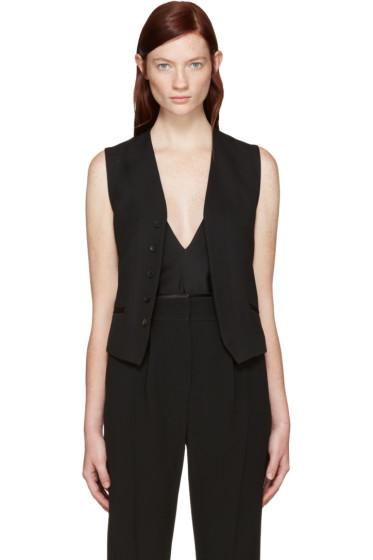 Haider Ackermann - Black Wool Classic Waistcoat