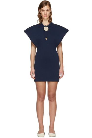 Jacquemus - ネイビー ル ロング ポロ ドレス