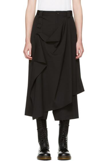 Yohji Yamamoto - Black Drape Apron Trousers