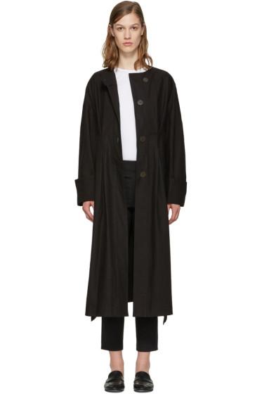 Isabel Marant - ブラック スレーター トレンチ コート