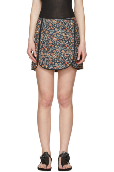 Isabel Marant - Navy Prunella Miniskirt