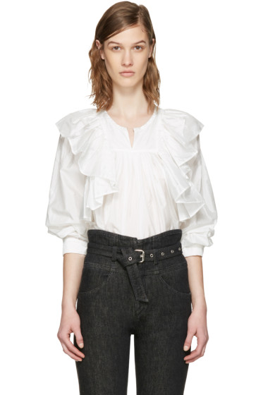 Isabel Marant - White Arlington Blouse
