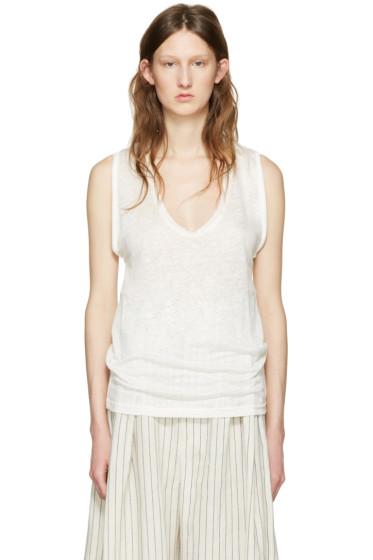 Isabel Marant - White Linen Maik T-Shirt
