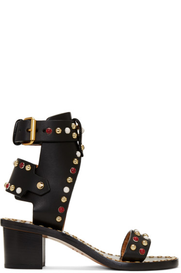 Isabel Marant - Black Leather Jaeryn Sandals