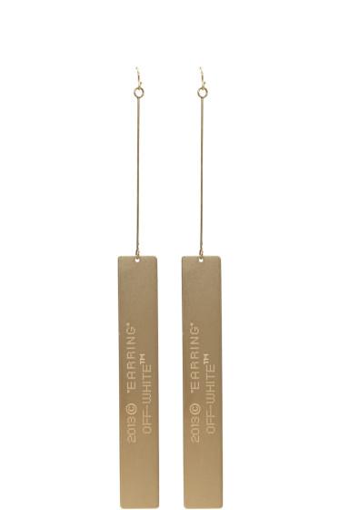 Off-White - Gold Logo Earrings