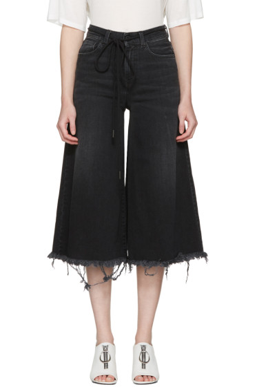 Off-White - Black Arrow Capri Jeans