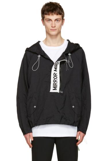 Off-White - Black 'Mirror Mirror' Anorak Jacket