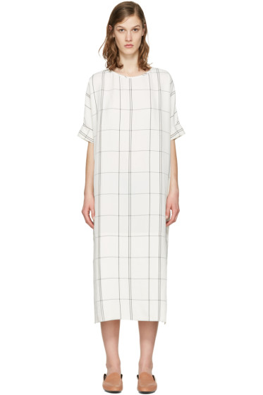 Studio Nicholson - Ivory Windowpane Ercole Dress