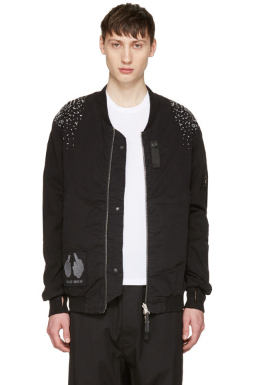 11 by Boris Bidjan Saberi - Reversible Black Optic Bomber Jacket