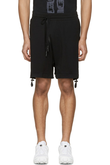 11 by Boris Bidjan Saberi - Black Drawstring Shorts
