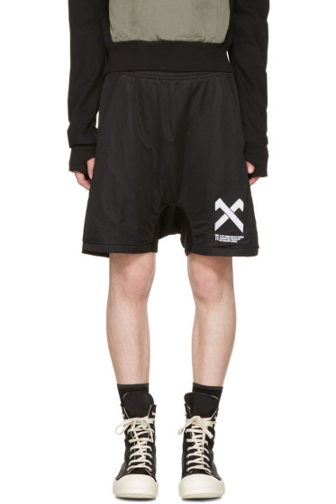 11 by Boris Bidjan Saberi - Black Logo Shorts