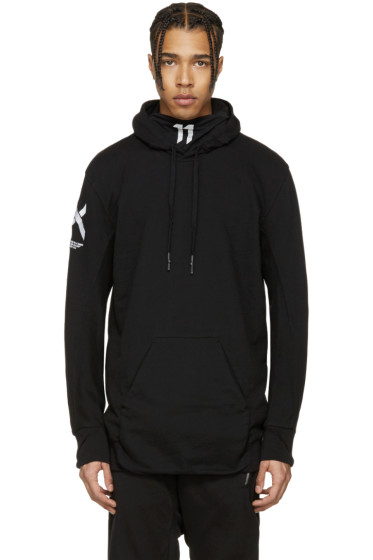 11 by Boris Bidjan Saberi - Black Cross Logo Hoodie