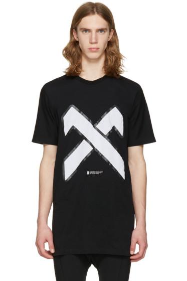 11 by Boris Bidjan Saberi - Black Cross Logo T-Shirt