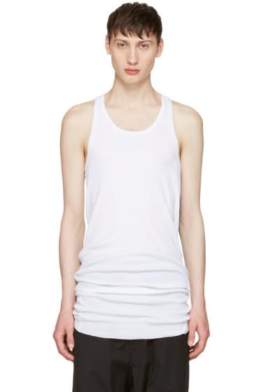 11 by Boris Bidjan Saberi - White Slim Logo Tank Top