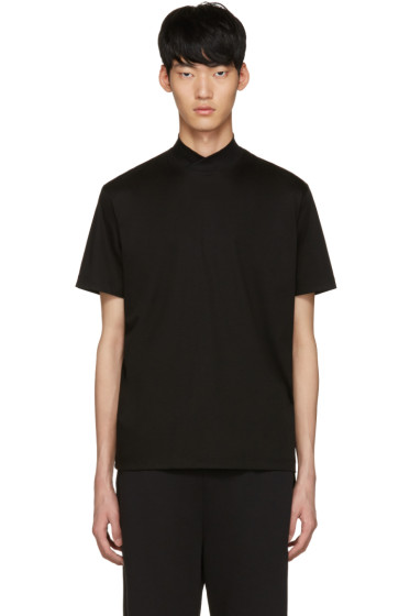 Johnlawrencesullivan - Black Mock Neck T-Shirt