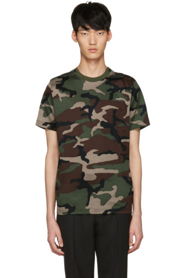 Johnlawrencesullivan - Khaki Camo T-Shirt