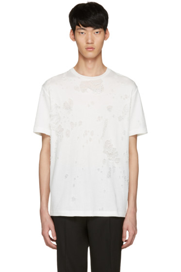 Johnlawrencesullivan - White Destroyed T-Shirt
