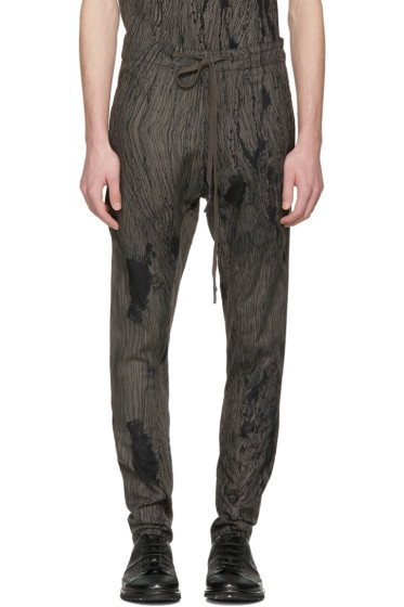 Nude:mm - Grey Printed Trousers
