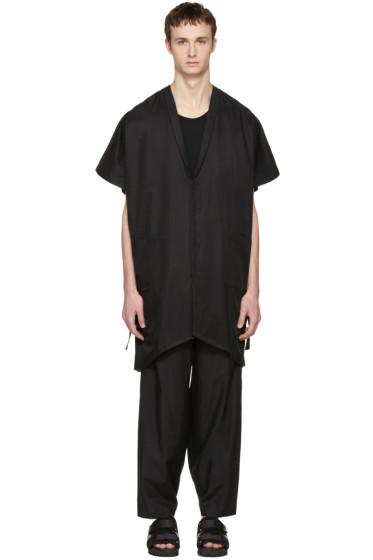 Nude:mm - Black Kimono Shirt