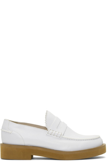 Jil Sander Navy - White Leather Galaxy Loafers