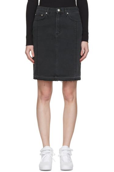Won Hundred - Black Denim Carola Miniskirt