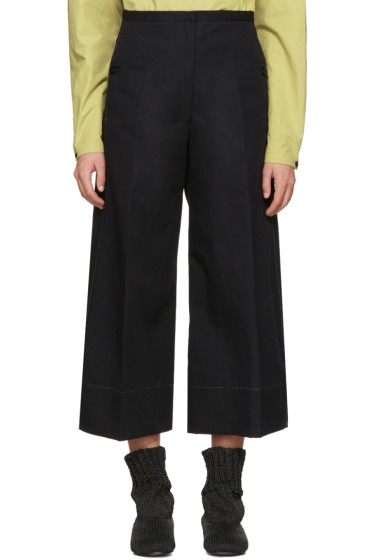Lemaire - Black Large Crop Trousers