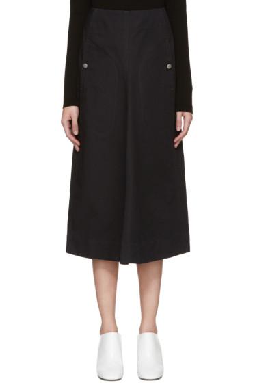 Lemaire - Black Flared Skirt