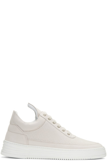 Filling Pieces - Grey Perforated Sneakers