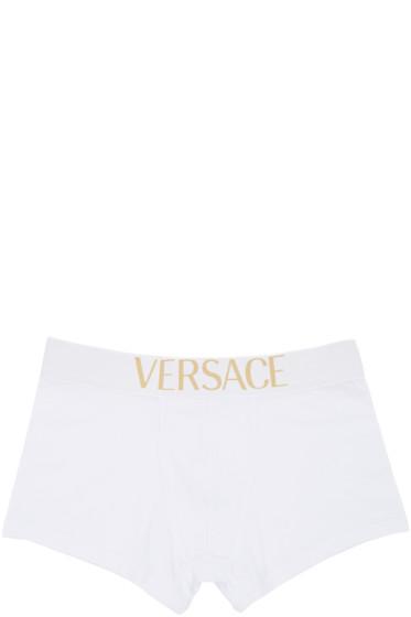 Versace Underwear - White Logo Boxer Briefs