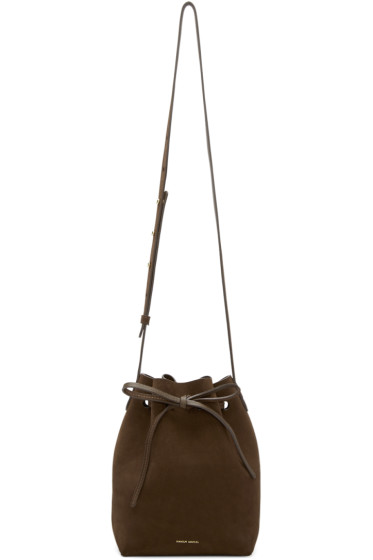 Mansur Gavriel - Brown Suede Mini Bucket Bag