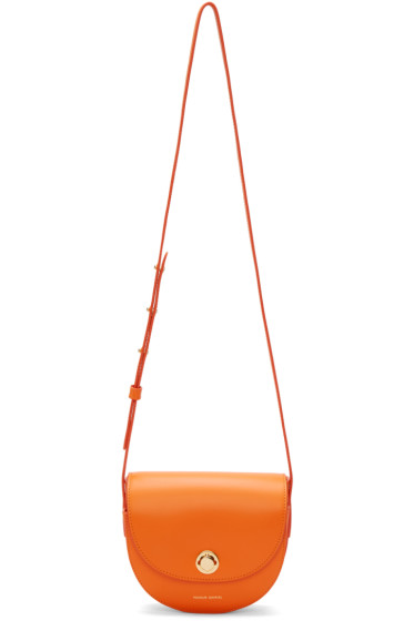 Mansur Gavriel - Orange Mini Saddle Bag