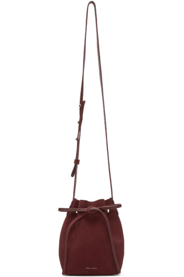 Mansur Gavriel - Burgundy Suede Mini Mini Bucket Bag