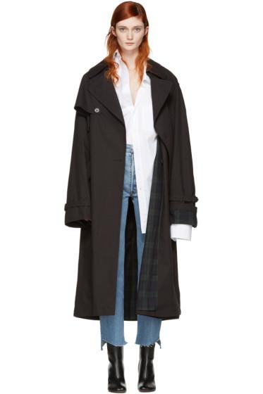 Vetements - Black Mackintosh Edition Oversized Trench Coat