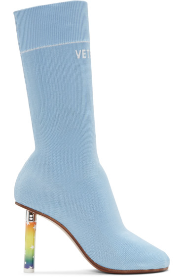 Vetements - Blue Stars Lighter Sock Boots