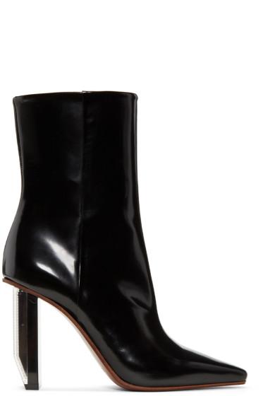 Vetements - Black & Silver Reflector Heel Boots
