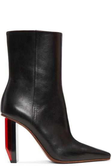 Vetements - Black & Red Reflector Heel Boots