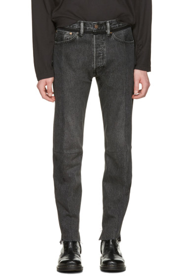 Vetements - Black Levi's Edition Classic Reworked Denim Jeans