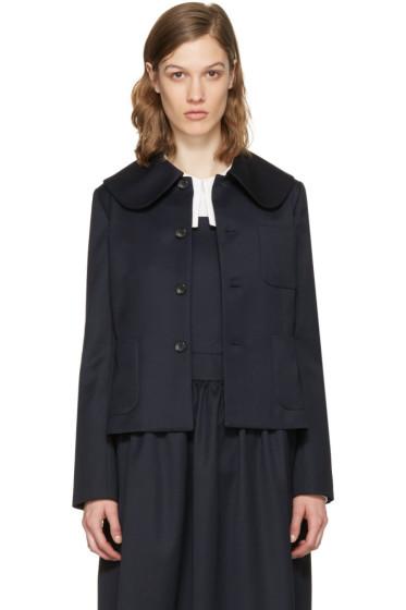 Comme des Garçons Girl - Navy Large Collar Jacket