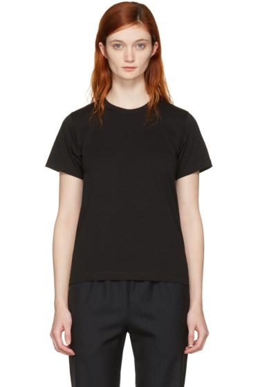 Comme des Garçons Comme des Garçons - Black Cotton T-Shirt