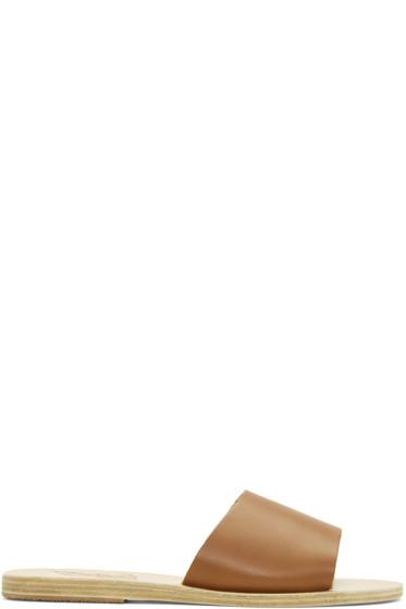 Ancient Greek Sandals - ブラウン ターユゲテー サンダル