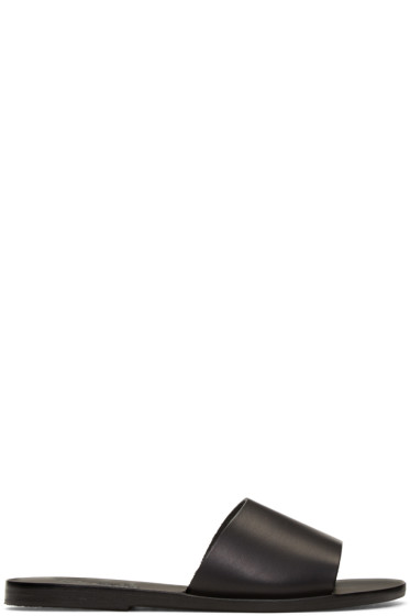Ancient Greek Sandals - ブラック ターユゲテー サンダル