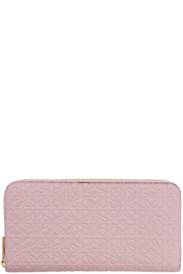 Loewe - Pink Zip Around Anagram Wallet