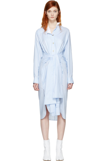 Loewe - Blue Asymmetric Shirt Dress