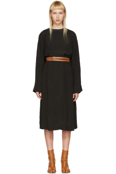 Loewe - Black Belted Tunic Dress