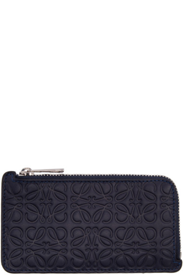 Loewe - Navy Anagram Card Holder