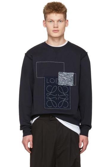 Loewe - Indigo Anagram Patches Pullover