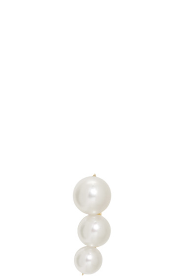 Sophie Bille Brahe - Gold Pearl Trois Lune Earring
