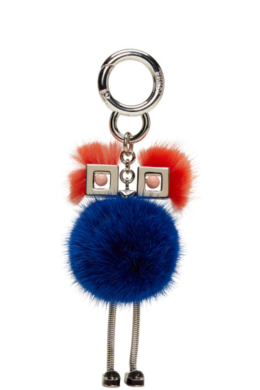 Fendi - Blue Fur Chick Keychain